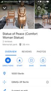 少女像 Google Map